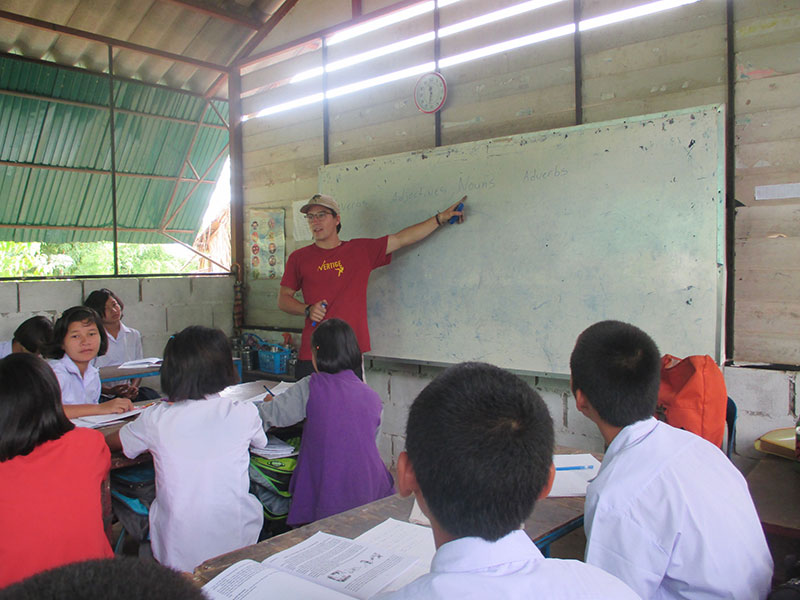 Loic with his students in Mae Sot