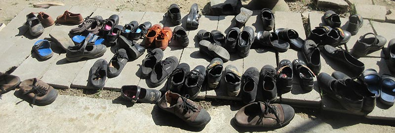 Shoes of Mae Sot students
